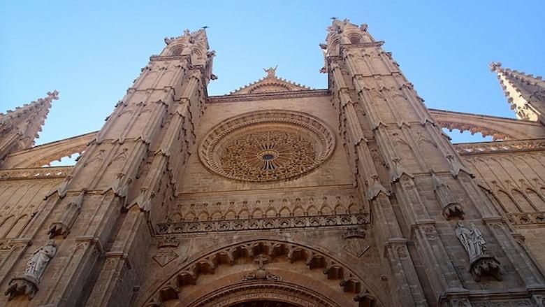 entrée de la cathédrale de palma