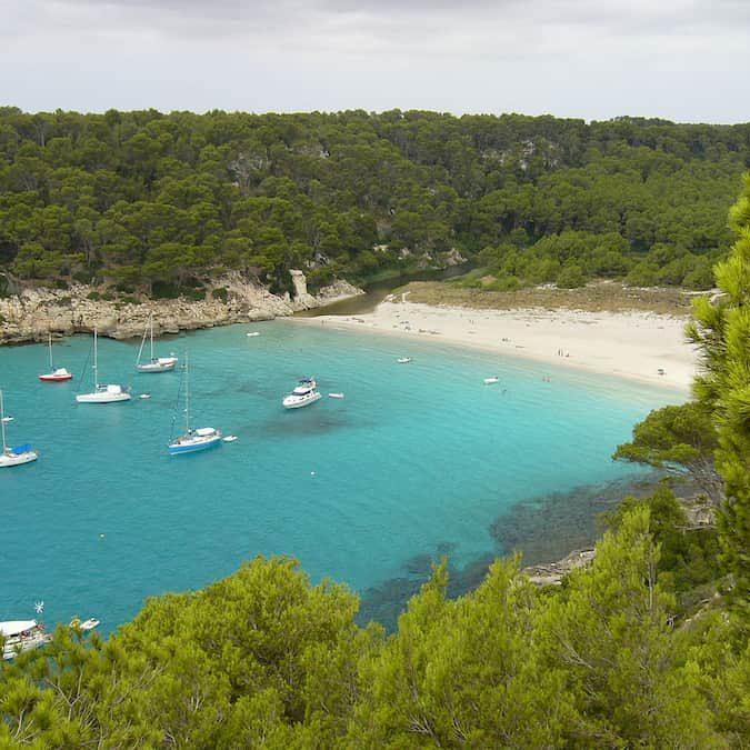 Cala Trebaluger en Menorca