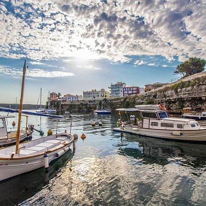 Playas en la isla de Menorca